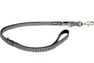 Red Dingo Multipurpose Lead Reflective Bones Black MP-RB-BB