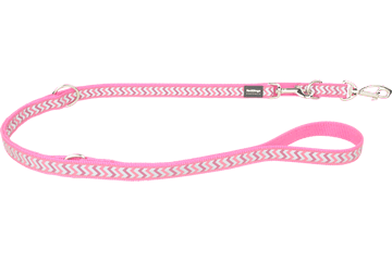 Red Dingo Multipurpose Lead Reflective Ziggy Hot Pink MP-RZ-HP