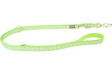 Red Dingo Multipurpose Lead Reflective Ziggy Lime Green MP-RZ-LG