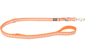 Red Dingo Multipurpose Lead Reflective Ziggy Orange MP-RZ-OR