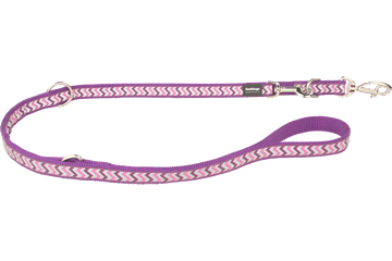 Red Dingo Multipurpose Lead Reflective Ziggy Purple MP-RZ-PU