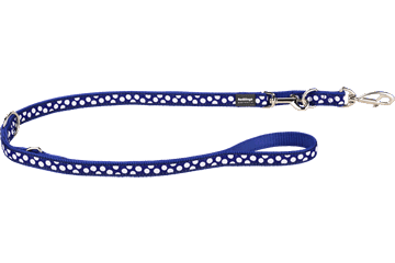 Red Dingo Multipurpose Lead White Spots Dark Blue MP-S5-DB