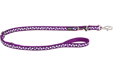 Red Dingo Multipurpose Lead White Spots Purple MP-S5-PU