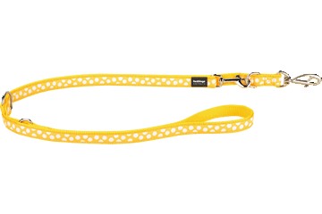 Red Dingo Multipurpose Lead White Spots Yellow MP-S5-YE