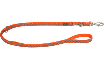 Red Dingo Multipurpose Lead Snake Eyes Orange MP-SE-OR