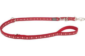 Red Dingo Multipurpose Lead Santa Paws Red MP-SP-RE