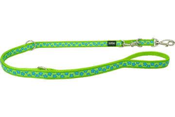 Red Dingo Multipurpose Lead Stars Lime Green MP-ST-LG