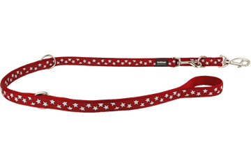 Red Dingo Multipurpose Lead Stars Red MP-ST-RE
