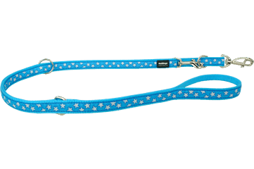 Red Dingo Multipurpose Lead Stars Turquoise MP-ST-TQ