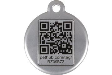 Red dingo qr tags with free online profile for Qr code dog tag